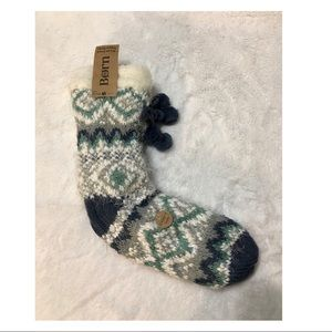 Born Accessories - Born Sherpa Lined Slipper Socks with Gripper Soles